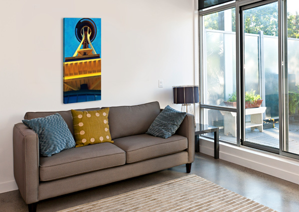 SEATTLE SPACE NEEDLE ABSTRACT PIERCE ANDERSON  Canvas Print