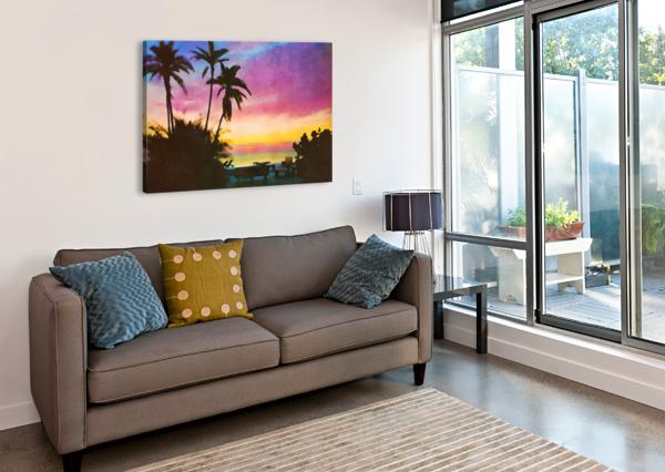 GULF OF MEXICO SUNSET ART PIERCE ANDERSON  Canvas Print