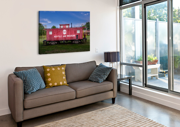 NORFOLK & WESTERN CABOOSE ERIC FRANKS PHOTOGRAPHY  Canvas Print