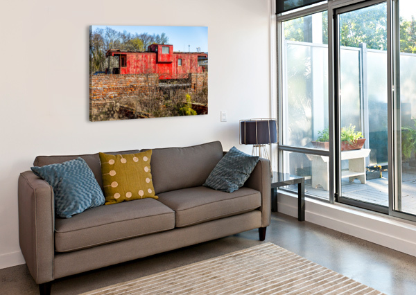 RAIL CAR IN PETERSBURG VA ERIC FRANKS PHOTOGRAPHY  Canvas Print