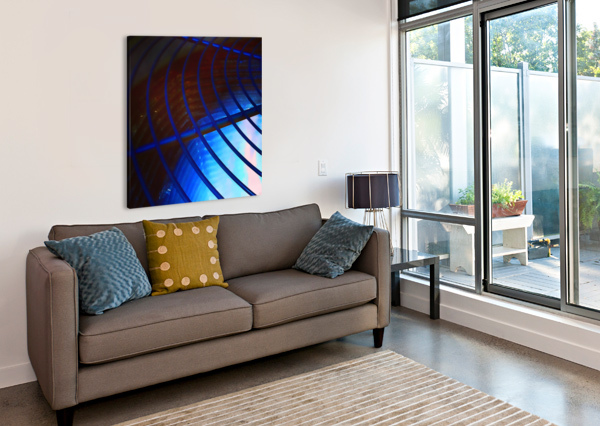 ABSTRACT BLUE CURVED LINES PIERCE ANDERSON  Canvas Print