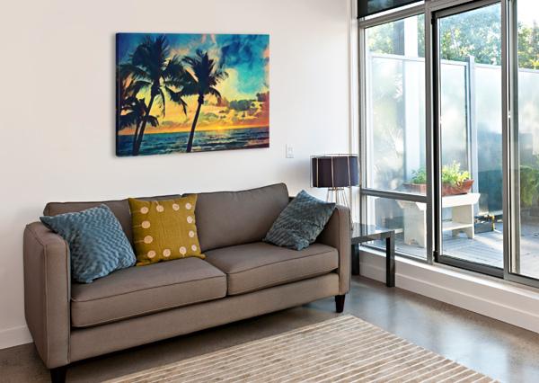 FLORIDA PALM TREES ART PIERCE ANDERSON  Canvas Print