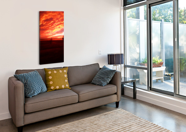 RED SKY PIERCE ANDERSON  Canvas Print