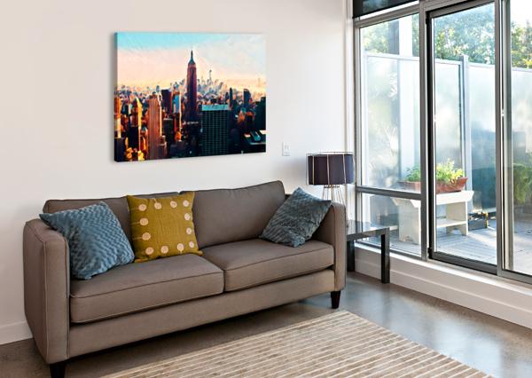 NEW YORK CITY SKYLINE PIERCE ANDERSON  Canvas Print