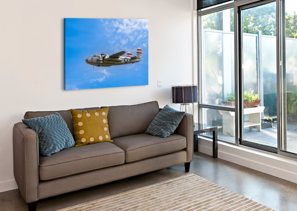 PANCHITO B25 IN FLIGHT ERIC FRANKS PHOTOGRAPHY  Canvas Print