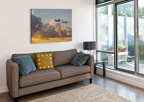 FOUR T 28 TRAINERS ERIC FRANKS PHOTOGRAPHY  Canvas Print
