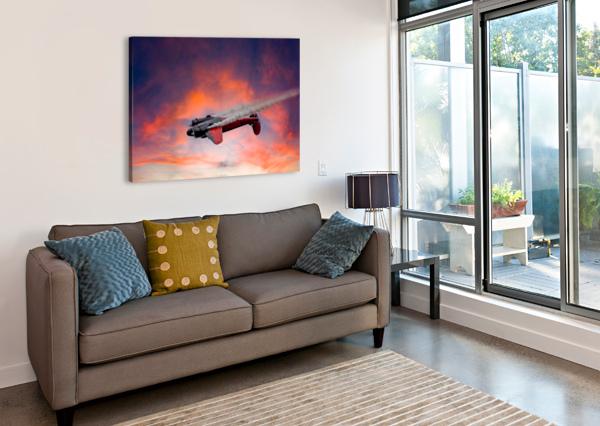 BEECH B18 INVERTED FLIGHT ERIC FRANKS PHOTOGRAPHY  Canvas Print