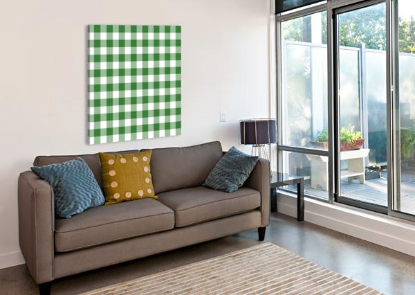 GREEN PLAID PATTERN RIZU_DESIGNS  Canvas Print