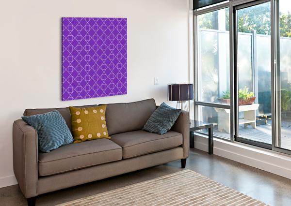 PURPLE SQUARES AND DIAMONDS PATTERN RIZU_DESIGNS  Canvas Print