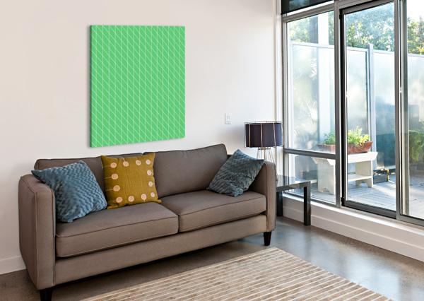 GREEN COLOR CHECKERS PATTERN RIZU_DESIGNS  Canvas Print