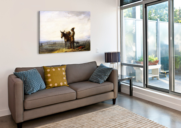 OLD BILL BURROWS A FREE TRAPPER ALFRED JACOB MILLER  Canvas Print