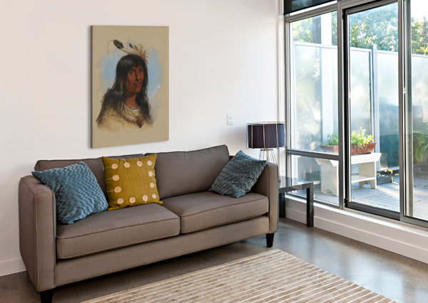 BIG BOWL - INDIAN CHIEF ALFRED JACOB MILLER  Canvas Print