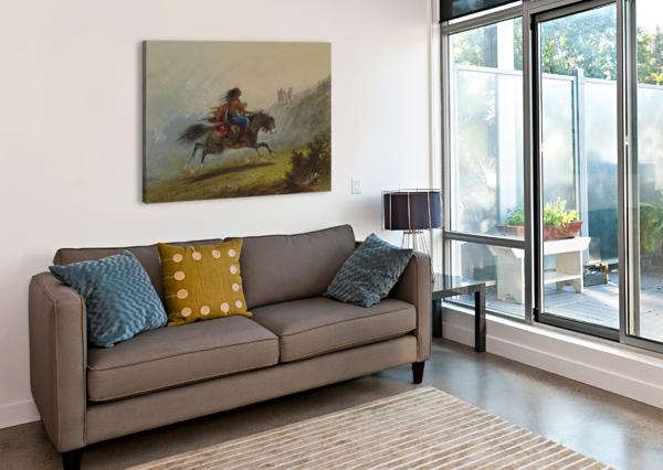 AN INDIAN GIRL ON HORSEBACK ALFRED JACOB MILLER  Impression sur toile