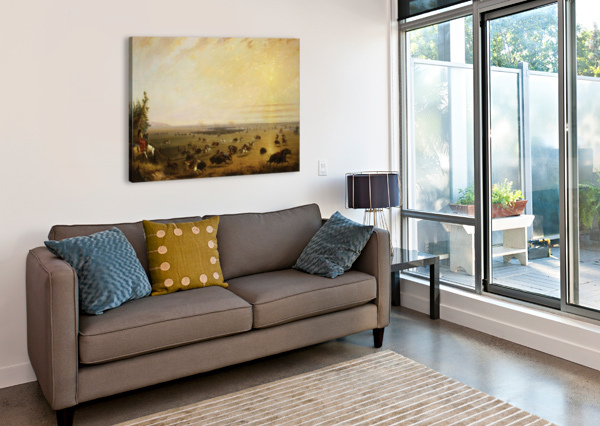 A SURROUND ALFRED JACOB MILLER  Canvas Print