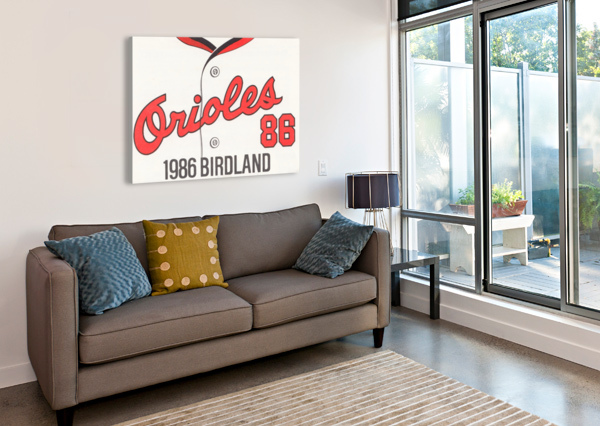 1986 BALTIMORE ORIOLES METAL SIGN ROW ONE BRAND  Impression sur toile