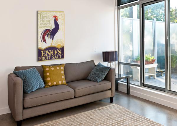 ENOS FRUIT SALT VINTAGE POSTER  Canvas Print