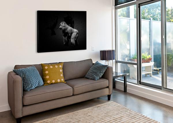 SILVERBACK GORILLA EDIT EDIT ERIC FRANKS PHOTOGRAPHY  Canvas Print