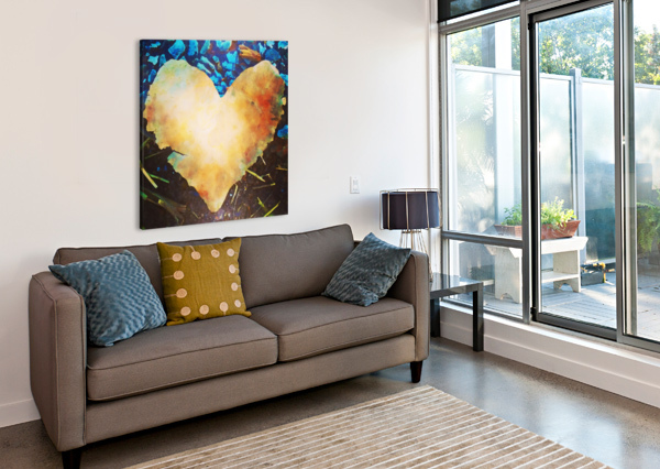 HEART LEAF PIERCE ANDERSON  Canvas Print
