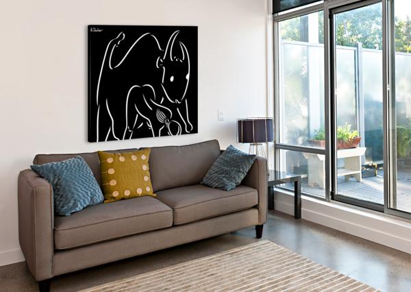 PASIPHAE AND THE BULL ALEXANDER CHUBAR  Canvas Print