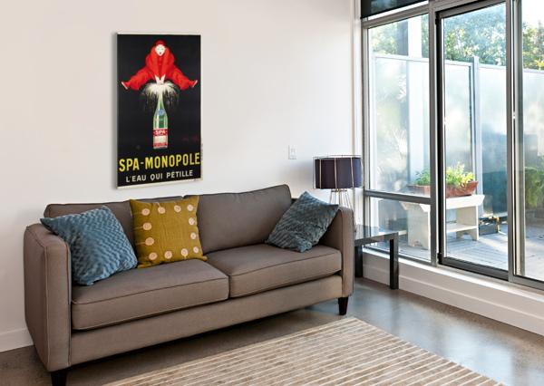 SPA-MONOPOLE - LEAU QUI PETILLE VINTAGE POSTER  Canvas Print