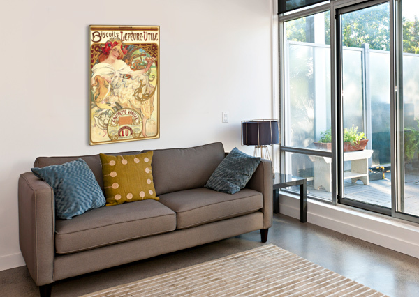 BISCUITS LEFEVRE-UTILE VINTAGE POSTER  Canvas Print