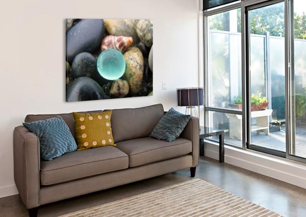 SEA GLASS AND SEASHELL J  JASMYN PHILLIPS  Canvas Print