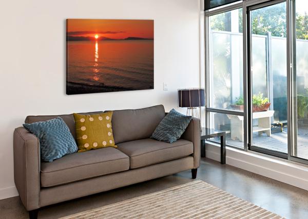 QUALICUM BEACH SUNSET J  JASMYN PHILLIPS  Canvas Print