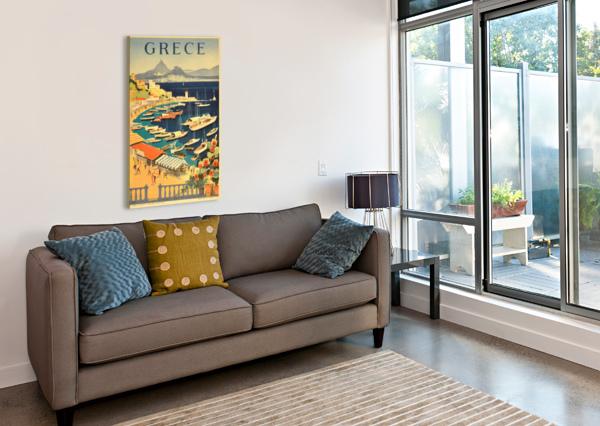 GREECE ORIGINAL VINTAGE TRAVEL POSTER VINTAGE POSTER  Canvas Print
