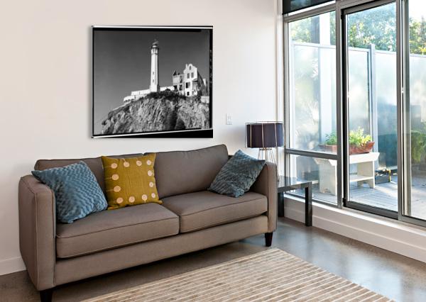 ALCATRAZ LIGHTHOUSE, CALIFORNIA STOCK PHOTOGRAPHY  Canvas Print