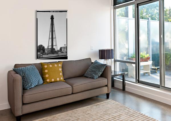 LISTON-RANGE-REAR-LIGHT-DELAWARE STOCK PHOTOGRAPHY  Canvas Print