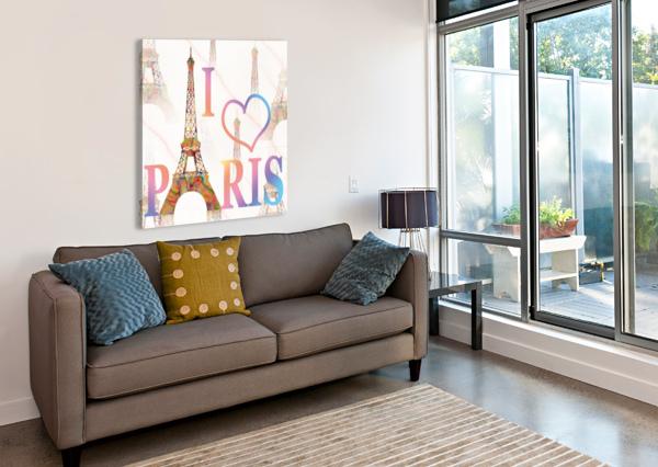 I LOVE PARIS GEORGETA BLANARU  Canvas Print