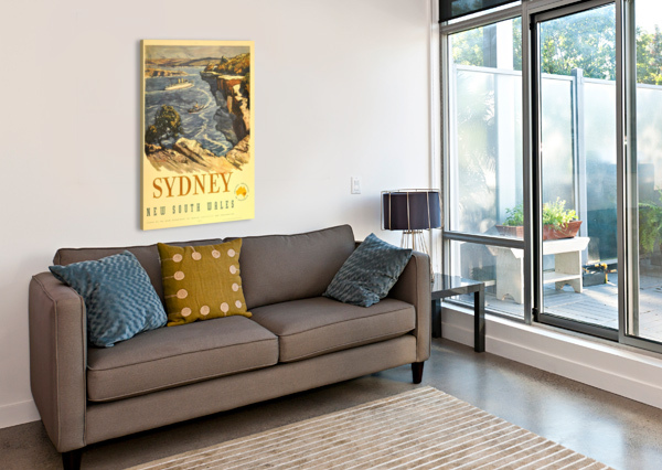 SYDNEY NEW SOUTH WALES VINTAGE POSTER  Canvas Print