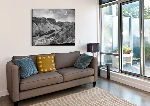 CLIFFS OF LA GRANDE FALAISE MICHEL SOUCY  Canvas Print