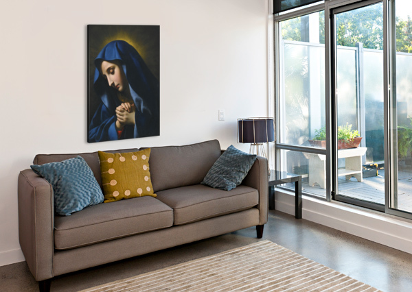 THE MADONNA AT PRAYER CARLO DOLCI  Canvas Print