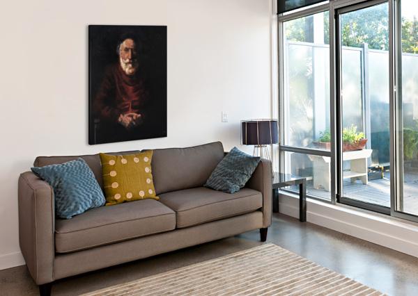 OLD MAN CARLO DOLCI  Canvas Print