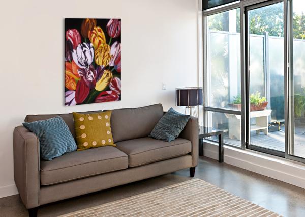 REMBRANDTS BELLA VISAT ARTIST  Canvas Print