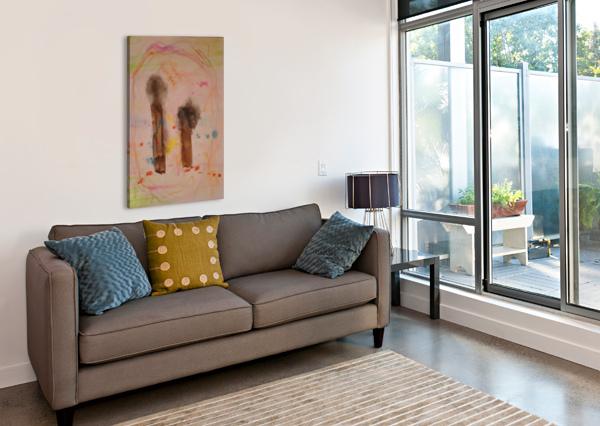 MY TWO COUSINS  (JOAN MIRO TRIBUTE) ALICE BANCIU  Canvas Print