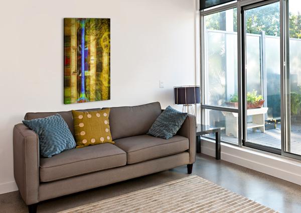 BRICKS AND WHEELS REFLECTED_141111_1513_0904 HXSYV DON VINE  Canvas Print