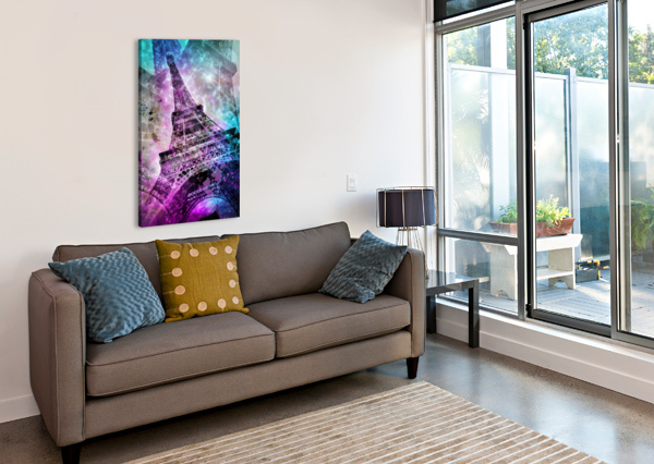 POP ART EIFFEL TOWER MELANIE VIOLA  Canvas Print