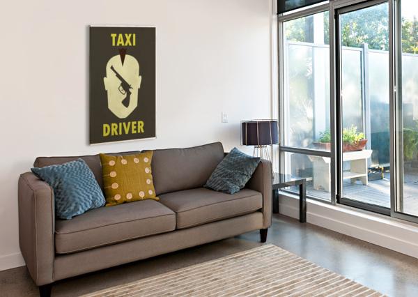TAXI DRIVER VINTAGE MOVIE POSTER VINTAGE POSTER  Canvas Print
