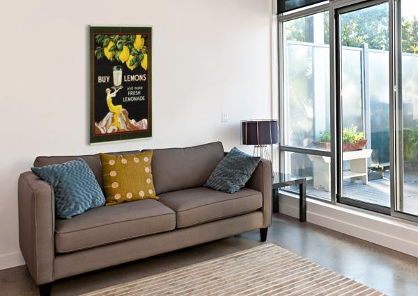BUY LEMONS AND MAKE LEMONADE VINTAGE POSTER VINTAGE POSTER  Canvas Print