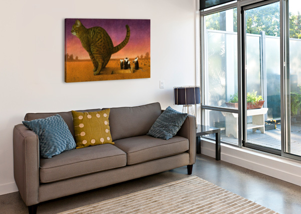 CAT PAWEL KUCZYNSKI  Canvas Print