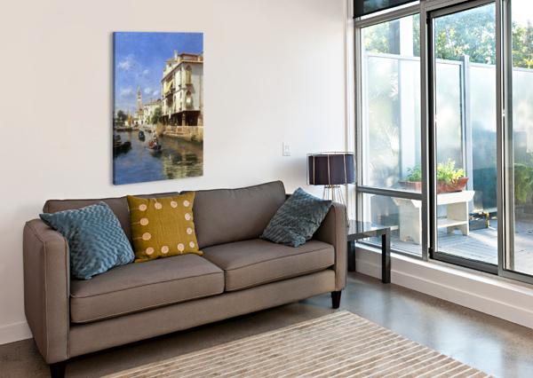 CANALE DELLA GUERRA, VENICE RUBENS SANTORO  Canvas Print
