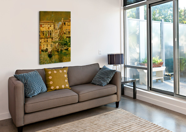 LEAVING A RESIDENCE ON THE GRAND CANAL RUBENS SANTORO  Canvas Print