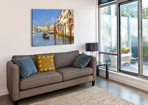 THE GRAND CANAL IN VENICE RUBENS SANTORO  Canvas Print