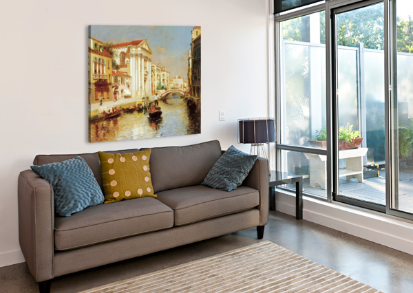 ALONG THE VENETIAN CANAL RUBENS SANTORO  Canvas Print