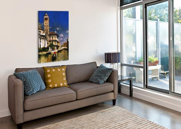 SAN GEREMIA, WITH PALAZZO LABIA, VENICE RUBENS SANTORO  Canvas Print