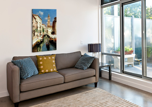 ALONG VENETIAN CANAL RUBENS SANTORO  Canvas Print