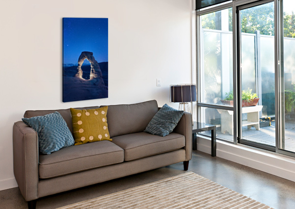 DELICATE ARCH NIGHT CHRISTOPHER DORMOY  Canvas Print