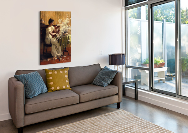 WILD BLOSSOMS EDWARD POYNTER  Canvas Print